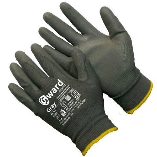 Перчатки  нейлоновые с полиуретановым покрытием  Gward PU1001-GW 34руб.