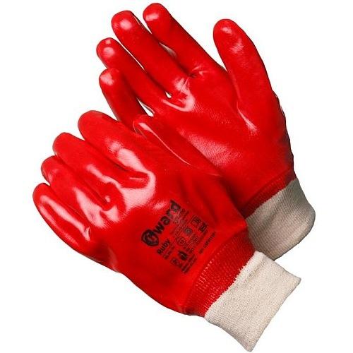 Перчатки  с ПВХ обливом (красные) с манжетой Gward GSP0111R-I-GW 61.5руб.