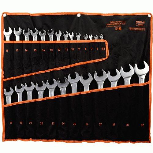 Набор ключей комбинированных 26пр. (5,5-32мм) АвтоДело Профи (сумка) 36260-AD 3497руб.