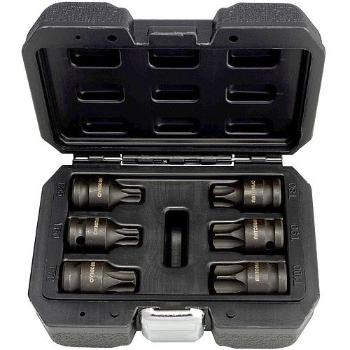 Набор головок  1/2`со  вставкой ударных torx 6пр. Т55-T100 AвтоДело 40194-AD 1214руб.