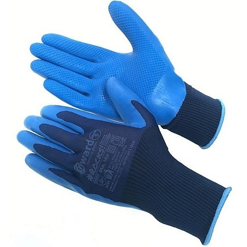 Перчатки нейлоновые с латексным покрытием  Gward L1009-GW 80руб.