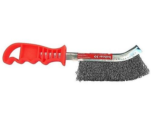 Щётка металлическая с пластиковой ручкой (нерж) Bohrer 36500002-BH 103руб.