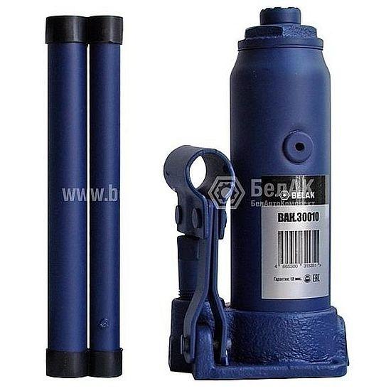 Домкрат гидр.  2т. (180-345мм) 2 клапана PREMIUM БелАК 30010-БАК 991руб.