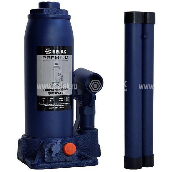 Домкрат гидр.  3т. (194-372мм) 2 клапана PREMIUM БелАК 30011-БАК 1334руб.