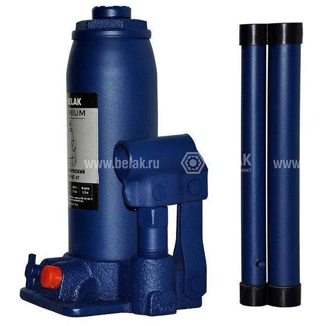 Домкрат гидр.  4т. (194-372мм) 2 клапана PREMIUM БелАК 30012-БАК 1462руб.