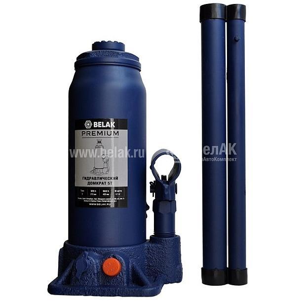 Домкрат гидр.  5т. (215-400мм) 2 клапана PREMIUM БелАК 30013-БАК 1592руб.