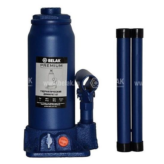 Домкрат гидр.  6т. (215-400мм) 2 клапана PREMIUM БелАК 30014-БАК 1646руб.