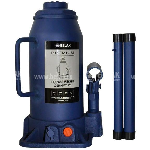 Домкрат гидр. 15т. (230-460мм) 2 клапана PREMIUM БелАК 30018-БАК 2995руб.