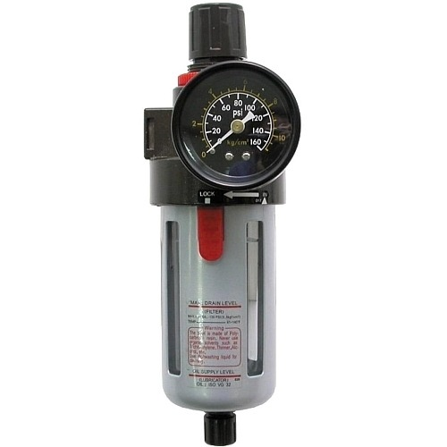 Фильтр-регулятор 1/2` для пневмоинструмента 1500л/мин. Sumake 2240AF-R-SA 4766руб.