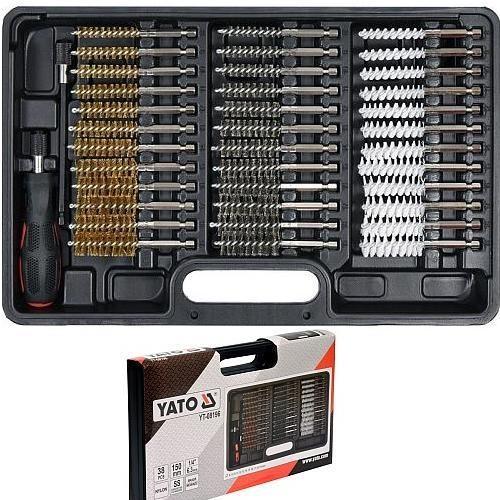Набор щеток для внутренней очистки отверстий 38пр. YATO 08196-YT 2529руб.