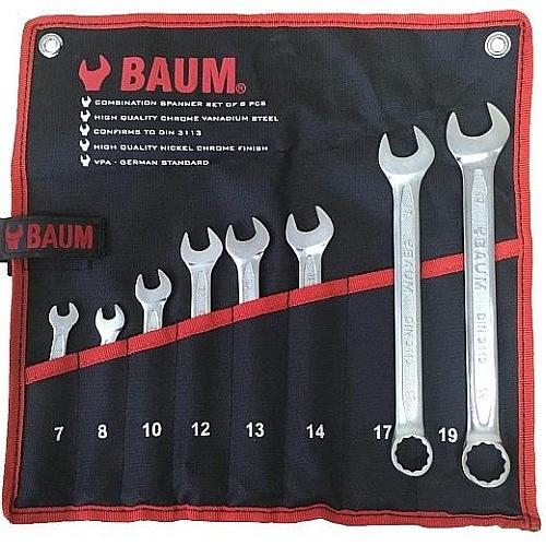 Набор ключей комбинированных  8пр. (7-19мм) BAUM проф (сумка) 30-08M-BA 707руб.