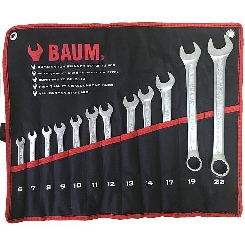 Набор ключей комбинированных 12пр. (6-22мм) BAUM проф (сумка) 30-12M-BA 1068руб.