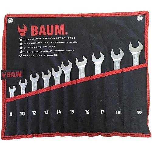 Набор ключей комбинированных 10пр. (8-19мм) BAUM проф (сумка) 30-10M-BA 991руб.