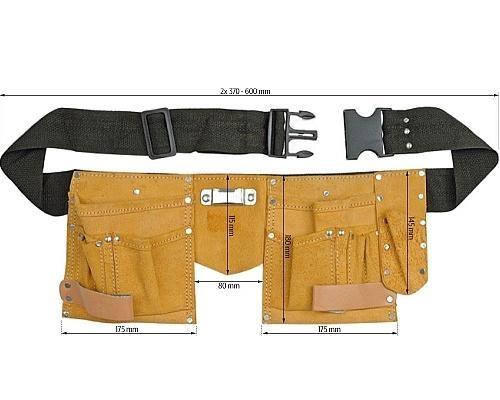Пояс монтажника кожаный Vorel 78750-V 383руб.